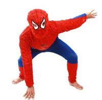 Wholesale Wholesale Leotards Unitards - Halloween Costumes Spiderman Clothing Clothes Child Kids Hot Sale Free Shipping Spider-Man Suit 6pcs lot Drop Shipping