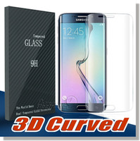 Wholesale Curved Glass Frames Wholesale - For Samsung Galaxy S8 S8plus Note 8 S7 edge S6 Edge Screen Protector Full Screen Frame Edge Tempered glass 3D Curved Full Transparent