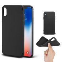 Wholesale matte back cover - Luxury Matte Slim Soft TPU Case anti-dust For iPhone X 8 7 6 6S Plus Case Full Back Cover Case With OPP Package