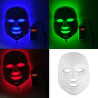 Wholesale Led Light Beauty Equipment - Korean LED Photodynamic Facial Mask Home Use Beauty Equipment Anti-acne Skin Rejuvenation LED Photodynamic Masks 3Colors Lights 0602011