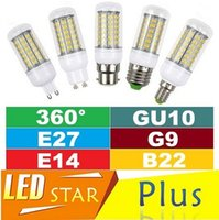 Wholesale E27 18w Globe - 7W 12W 15W 18W SMD 5730 Led Bulbs Corn Lights G9 E27 E14 B22 GU10 Led Lights 360 Degree Led Lamp Warm Cold White AC 110-240V Free Shipping