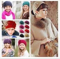 Wholesale Crocheted Headwraps - fashion 2015 handmade crochet wide headbands inch hot womens Winter button adjustable Crochet Flower Knitted Headwraps Ear Warmer 24 colors