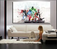 Wholesale abstract modern figure painting - The Avengers Modern Art Canvas Wall Paintings Cuadros Decorativos Canvas Prints Paintings Art For Living Room A 1338