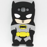 Wholesale Batman S3 - Black Batman Silicone Soft Cover Back Case For Samsung Galaxy S3 Mini S4 S5 S6 Ace 4 Core 2 Core Plus Grand Prime Grand 2 Grand Neo Duos