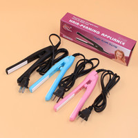 Wholesale Mini Pink Ceramic Iron - 2015 new arrival high quality MINI hair straighter 15*2.8CM blue black pink 35W power 220V 50Hz hair flat iron