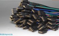 pin männlichen weiblichen led-draht-anschluss großhandel-Wholesale-50 set / lot 4 PIN männlich und weiblich RGB-Anschluss Draht Kabel für 3528 5050 SMD LED Streifen A0130