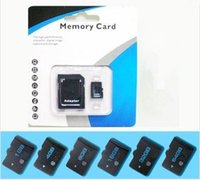 Wholesale Sd 32gb Real Capacity - 100% Real Genuine Full Capacity Original 1GB 2GB 4GB 8GB 16GB 32GB 64GB Micro SD Card SDHC Memory TF Card with Adapter Retail Package