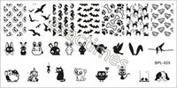 Оптово-1PC 12,5 х 6,5 см Animal Theme Nail Art Stamp Шаблон изображения Plate BP-L025 # 20795