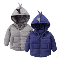 Wholesale dinosaur fleece for sale - Group buy Baby Infant boy dinosaur Winter Warm Coat kids Jacket Thick Warm Clothes Baby boy Cute Cartoon Long Sleeve Coats