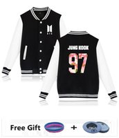 All'ingrosso- BTS Bangtan Boys Harajuku Winter Casual Kpop Felpa da donna freeshipping 4xl xxs felpa giacca da baseball