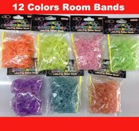 Envío libre al por mayor Loom Band Refill Bolsa de goma Loom gomas Kit Para Loom Pulseras 200bag / lot 1027 # 27
