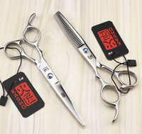 Wholesale Left Hand Scissors Japan - 6 Inch 5.5 Inch Left Hand Hairdressing Scissors High Quality Japan Stainless Steel Professional Cutting Thinning Shears