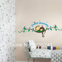 (30pcs / lot) ZY1203 Monkey Tree Wall Art Stickers Pour Kinds Chambre amovible Home Decor / Wall Decal