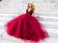 moda vestido real china venda por atacado-Vestidos De Noite Vermelho escuro Vestidos De Fiesta Vestidos De Festa Modest V pescoço Voltar Zipper Plissado Ruched Made in China Moda Prom Vestidos 2015