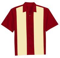 Wholesale Rockabilly Shirt L - Mens Vintage Rockabilly Hot Rod Bowling Shirts 50s Style Party Club wear