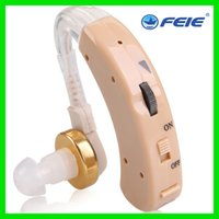 Wholesale Cheap Ear Aids - Cheap Price Hearing Aid Deafness Aids Audiponos Ear Sound Amplifier Hearing Assistive S-520 Adjust Hook Free Shipping
