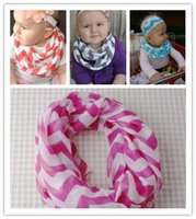 Wholesale Wholesale Baby Chevron Scarves - Wholesale-15 Colors New Fashion Infant Toddlers Kids Children Wave Loop Chevron Infinity Scarves Baby Accessories 90*90cm Free Shipping