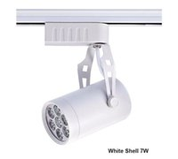 ingrosso illuminazione australiana-Australia Spedizione gratuita Dimmable LED Track Light 7W Spotlight Spot Bulb Lighting 20PCS White Housing 3 anni di garanzia CE RoHS