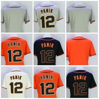 Wholesale Womens Orange Shorts - Womens San Francisco Jerseys Blank 12 Joe Panik Baseball Jerseys Orange Black Cream Grey Stitched