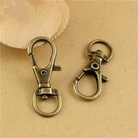 Wholesale Trigger Snap Hooks Wholesale - (50 pieces lot) antique bronze plated lobster swivel clasps trigger clips snap hooks clasps for key ring hm280
