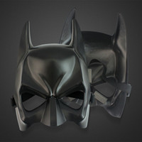 Wholesale Black Mask Batman - DHL Shipping Free Black Half face Batman Masks Halloween Masquerade Party Face Mask (One Size) Fit For Child and Adult