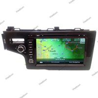 Wholesale Honda Fit Mp3 Player - 2 din car dvd gps sat nav navigation system android 4.4 built in radio audio wifi 3g fit for Honda Fit 2014