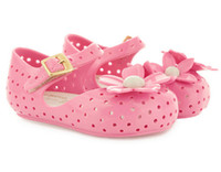 Wholesale-2015-Sommer-Art-Süßigkeit-Farbe Kind / Kleinkind / Kind Scent Jelly Sandalen Baby Closed Toe Blumen-Schuhe 0-3Years Sapatos Infantil