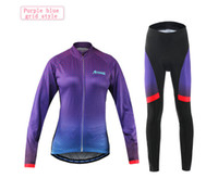 Wholesale Bicycle Jersey Design - Female Long Sleeve Clothing Bicycle Jersey Cycling Set Spring And Autumn Mountain Bike Team Riding Breathable Quick Dry Design Set S-XL