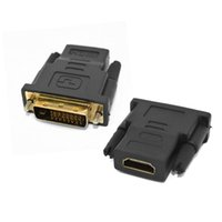 Wholesale Hdmi Type Vga - V1.4 24+1 DVI Male to HDMI Female Type A M-F HDMI DVI-D Adapter Converter convertor Connector For LED DISPLAY HDTV