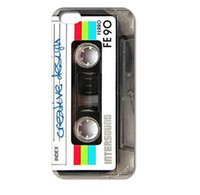Wholesale Designs Tapes - Wholesale Retro Vintage Cassette tape Design Hard Plastic Mobile Protective Phone Case Cover For Iphone 4 4S 5 5S 5C 6 6plus
