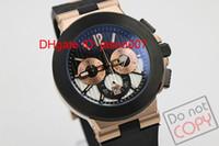 Wholesale Golden K - luxury Men's Chronograph Watches k-Golden Case Diagono Chrono chronograph working Sapphire Crystal Rubber Bands Sport Men's Watches