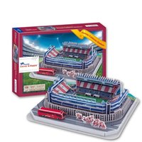 Hot Sale 3D Puzzle Stade Modèle Atletico Madrid Home Field Vicente Calderon Stade Football Pitch Paper Model Toys Décoration