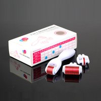 Wholesale Dermaroller Face - 3 in 1 Kit Derma Roller Micro Needle Roller 180 600 1200 Needles Skin DermaRoller for Body and Face