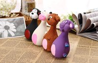 2018 13 * 7cm Animal Shape Pet Puppy Dog Toy Latex Chew Squeaker Squeaky Sound Playing Toys Cat Chews Toys