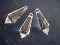 Wholesale Wholesale Lighting Parts - 100pcs lot,38mm glass icicle prism crystal u drop chandelier parts pendant parts display pendant lighting for restaurants