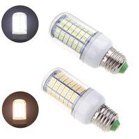 Wholesale E14 18w - E27 E26 E14 LED Light Corn Bulb 5050 SMD 18W 96 LEDs 2000LM With Cover 360 degree Maize Lamp Cool Warm White 220V-240V 2015 New Arrival