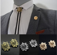 Wholesale China Wholesale Women Suits - Mix color Mens Suits Brooches Rudder Shield Brooch Male women Party Jewelry Wedding Bridegroom Lapel Pin