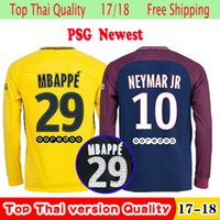 1880c6289ce Soccer Men Full Top Thailand quality psg home Long sleeve soccer jersey 2017  2018 Paris THIRD