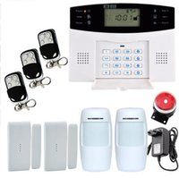 Wholesale Wired Home Burglar Alarm Systems - Smart Russian Spanish English French voice LCD gsm alarm system Wireless and wired Home alarm system Burglar alarm system