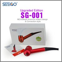 Wholesale Sg Black - Vaporizer smoking pipe e pipe Seego SG-001 Upgraded Edition new convection style e cigarette vaporizer e pipe With high quality