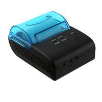 impresoras de billetes al por mayor-Original Thermal 58 mm Bluetooth 4.0 Android 4.0 Thermal POS impresora máquina de billetes para supermercado restaurante negro
