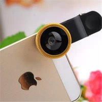 Wholesale S4 Eyes - Universal 3in1 Clip-On Fish Eye Lens Wide Angle Macro Mobile Phone Lens For iPhone6 6plus Samsung Galaxy S4 S5 S6 Note4 All Phones fisheye