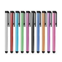 Wholesale Apple Iphone Different Colors - Universal Capacitive Stylus Pen for Iphone 7 7plus 6 6S 5 5S Touch Pen for Cell Phone For Tablet Different Colors 1000pcs lot