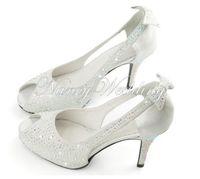 Wholesale party evening dress silver shoes resale online - High Quality Promotion Woman Formal Dress Shoes Lady Wedding Bridal Shoes High Heel Peep Toe Shoes Party Evening Banquet Pumps Sandal