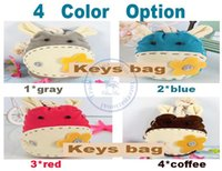 Wholesale Push Keychain - Wholesale-key rings storage wallets case lady girls keychain holder bag cartoon cute animal Draw and push whcn