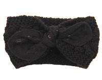 Wholesale Headbands Dark Brown Hair - Winter New fashion women Wool Knitted Headbands Lovely rabbit ears Turban Headband Crochet Elastic Hair Bands Ladies ear warmer D705J