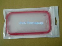 Wholesale Galaxy S2 Metal - 100Pcs White   Clear Retail Packaging Plastic Poly Bag For Cell Phone Case, Case For iPhone 5S 5C 5 4S 4 3 Samsung Galaxy S3 S2 HTC