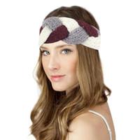 Wholesale womens knitted headbands - Wholesale-Kimisohand 2016 Hot Womens Winter Warm Hat Skiing Cap Knitted Empty Skull Beanie Headband Warm Ear Protection Headband