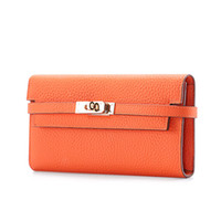 multifunktions-brieftasche großhandel-Herbst und Winter Kopfschicht aus reinem Leder, neue europäische und amerikanische Tasche, Multifunktions-Geldbörse, weibliche Kylie-Handtasche, Verschlusssäcke
