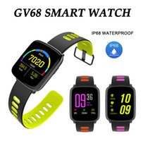Wholesale Iphone Watches For Men - GV68 Smart Watch IP68 Waterproof BT4.0 Sports SmartWatch Heart Rate Monitor Fitness Tracker Men Women SN10 Wrist Watches for iPhone Android